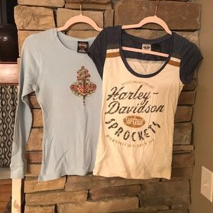Two Harley Davidson T-shirt's